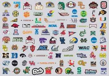 NCAA Basketball Logos Pt1 - vector gratuit #148085