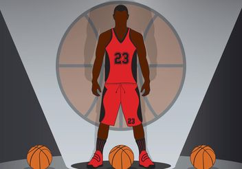 Basketball Background Vector - Free vector #148105