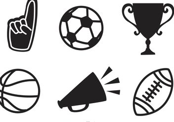 Black Sports Vector Icons - Free vector #148125