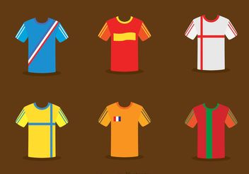 Collection Of Soccer Jersey Vector - vector #148155 gratis