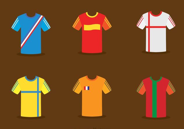 Collection Of Vector de Soccer Jersey - vector gratuit #148155