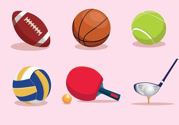 Sports Vector Equipment - Kostenloses vector #148165