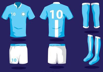 Soccer Uniform Vectors with Socks - vector gratuit #148185