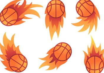 Basketball on Fire vectors - Free vector #148205