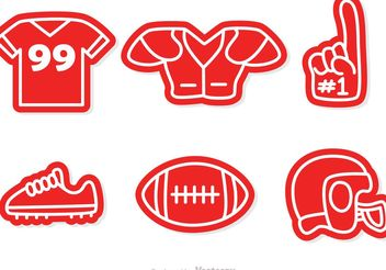 Football Icons Vectors - Free vector #148225