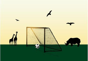 Football In Africa - Kostenloses vector #148325