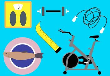 Diet and Fitness Vectors - Kostenloses vector #148365