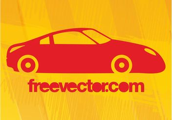 Orange Sports Car Silhouette - vector #148405 gratis