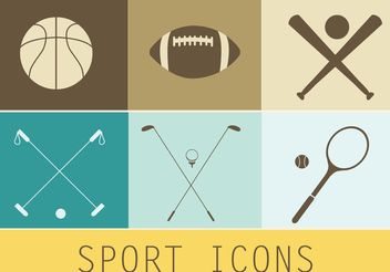 Free Vector Sport Icons - vector gratuit #148485