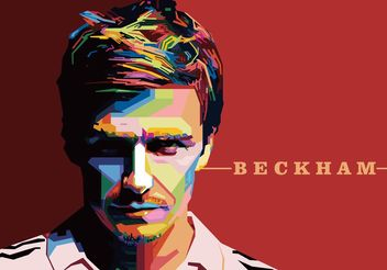 David Beckham Vector Portrait - бесплатный vector #148525