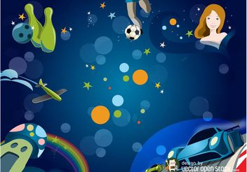 Kids Background Vector - Free vector #148555