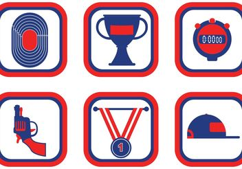 Track & Field Icon Vector Pack - Free vector #148575