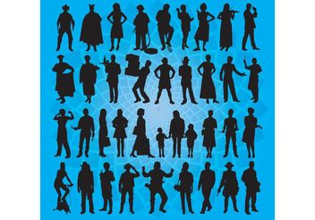 People Vector Art - Free vector #148585