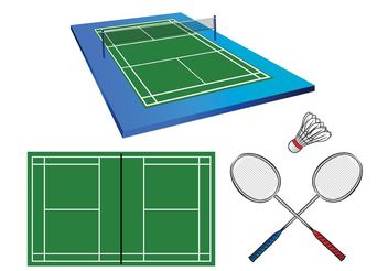 Badminton Court Vectors - бесплатный vector #148595