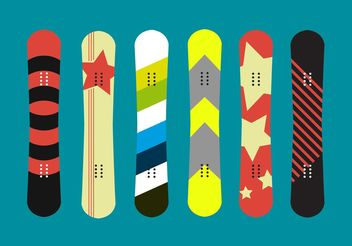 Snowboard Isolated Vectors - Free vector #148605