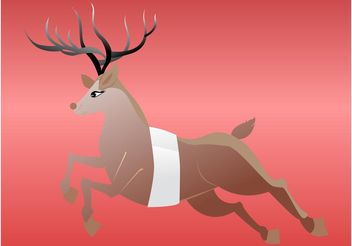 Running Deer - vector gratuit #148635