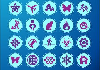 Icons Vector Set - бесплатный vector #148645