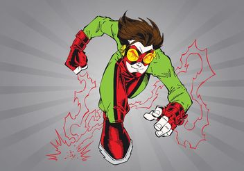 Superhero Cartoon - Free vector #148695