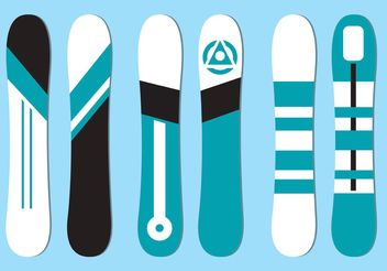 Free Vector Snowboard Set - Free vector #148705
