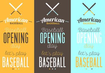 Baseball Typographic Posters - Free vector #148735
