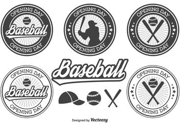 Baseball Opening Day Badges - Free vector #148745