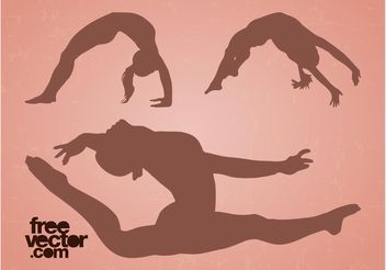 Flexible Girls Vector - vector #148755 gratis