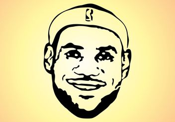 LeBron James - Free vector #148785