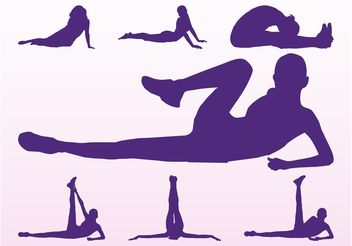 Workout Girls Silhouettes - Free vector #148815