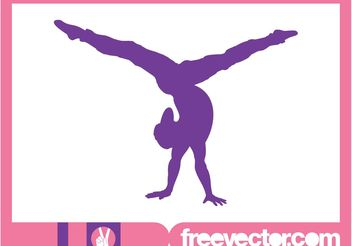 Flexible Girl Silhouette - vector gratuit #148835