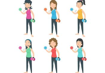 Work Out Ladies Vector - Free vector #148845