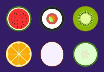Simple Healthy Food Vectors - vector gratuit #148855