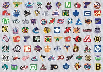 NHL Hockey Logos - vector gratuit #148905