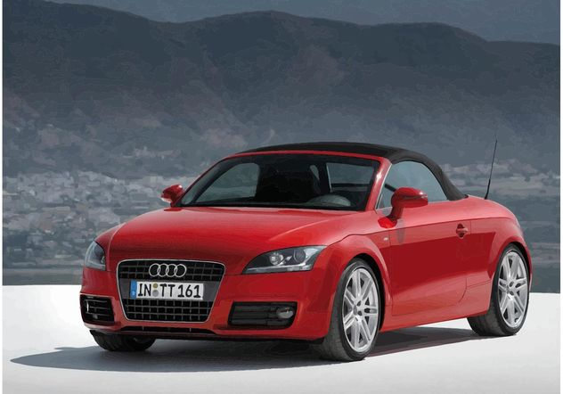 red audi tt cabrio free vector download 148945 cannypic. Black Bedroom Furniture Sets. Home Design Ideas