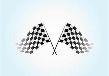 Racing Flag Vector - Free vector #148965