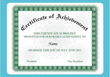 Achievement Certificate - бесплатный vector #148995
