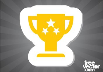 Trophy Sticker - vector gratuit #149055