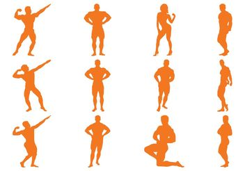 Bodybuilder Silhouettes - Free vector #149085
