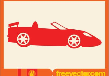 Red Convertible Silhouette Icon - Free vector #149095
