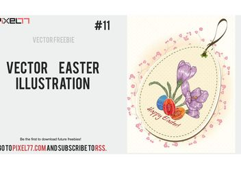 Vector Easter Illustration - Kostenloses vector #149245