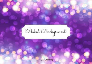 Abstract Bokeh Background Illustration - Free vector #149365