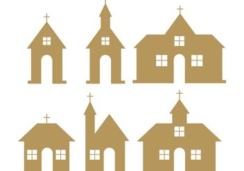 Country Church Vectors - vector gratuit #149385