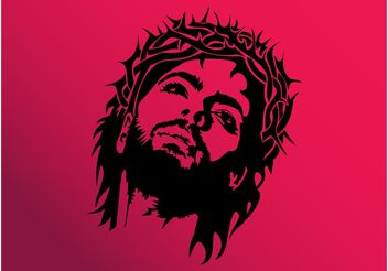 Jesus Face Vector - бесплатный vector #149395