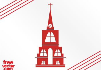 Christian Church Silhouette - бесплатный vector #149405