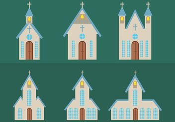 Simple Country Church Vectors - vector gratuit #149415
