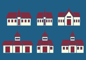 Church Vector Icons - Free vector #149435