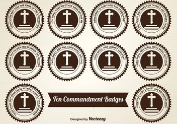 Ten Commandment Badges - бесплатный vector #149525