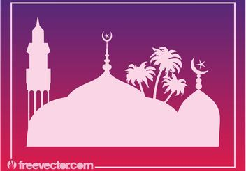 Mosque Graphics - vector gratuit #149535