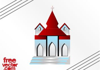 Church Building - vector gratuit #149555