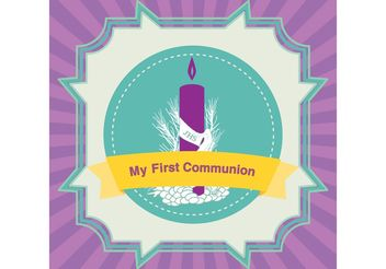 First Communion Card Vector - vector gratuit #149625