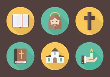 Free Flat Christianity Vector Icons - vector #149635 gratis